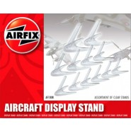 Assorted clear plastic aircraft stands Stands. 6 x small. 4 x medium. 2 x larger.
