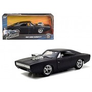 Fast & Furious Diecast Model 1/24 1970 Dodge Charger Matt Black