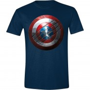 Captain America Shield T-Shirt Navy (Size: M)