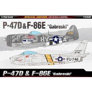 "Republic P-47D & North American F-86E ""Gabreski"" 2 in 1 Limited Edition."