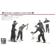 German Hunting Crew 5 Figures with Dog & Rabbits