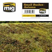 SMALL BUSHES – AUTUMN Realistic ground with small grass mats