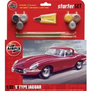 Jaguar E Type Starter Set includes Acrylic paints, brushes and poly cement