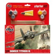 Hawker Typhoon Mk.Ib Starter Set includes Acrylic paints, brushes and poly cement