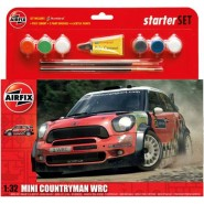 Mini Countryman WRC Starter Set includes Acrylic paints, brushes and poly cement
