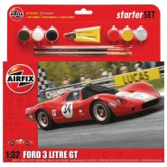 Ford 3 Litre GT Starter Set includes glue, two brushes and six acrylic paints.