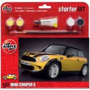 BMW Mini Cooper S Starter Set includes Acrylic paints, brushes and poly cement