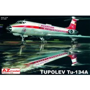 Tupolev Tu-134 with decals for OK Jet and Interflug