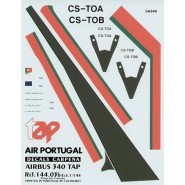 Airbus A340 TAP Air Portugal. Includes all registrations CS-TOA/B/C/D