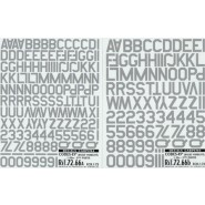 Grey Code Letters and Numbers 45 degree corners 2 sizes. 1.00m, 1.25m Double sheet