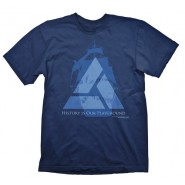 ASSASSINS CREED 4 DISTANT LANDS T-SHIRT BLUE (Size: L)