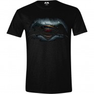 Batman v Superman T-Shirt Logo Black (Size: M)