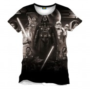 Star Wars - Vader Memories Full Printed T-shirt - White (Size: L)