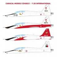 International Northrop T-38A features markings for two NATO users of the Talon: Turkey and Portugal.