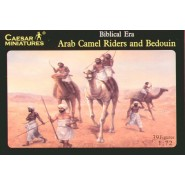 Biblical Era Arab Camels x 2 with riders and Bedouins