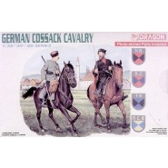 2 German Cossack Cavalry on horseback