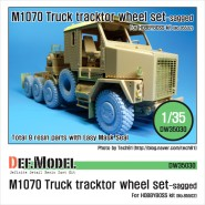 DEF MODEL - M1070 Truck Tractor Sagged wheel set (for Hobbyboss 1/35)