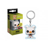 Nightmare Before Christmas Pocket POP! Vinyl Keychain Zero (GITD) Exclusive 4 cm