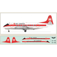 Air Canada Viscount 700. Laser-printed decals.
