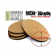 MDF Bases - AOS Oval 105x70mm x 1