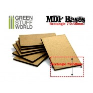 MDF Bases - Rectangle 75x50mm x 1
