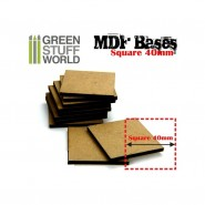MDF Bases - Square 40 mm x 1