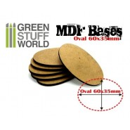 MDF Bases - AOS Oval 60x35mm x 1