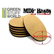 MDF Bases - AOS Oval 75x46mm x 1