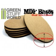 MDF Bases - AOS Oval 90x52mm x 1