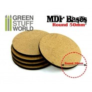 MDF Bases - Round 50 mm x 1