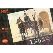 Napoleonic Prussian Uhlans. 12 mounted figures with litweka and shako.