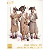 1805 French in greatcoats x 96 figures per box