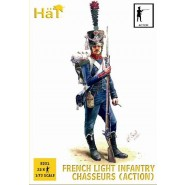 French Chasseurs in action poses. 32 figures per box