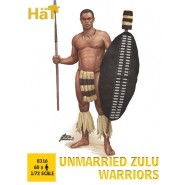Unmarried Zulu warriors Release (60 figures/box)