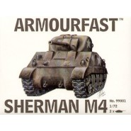 M4 Sherman Medium Tank: Pack includes 2 snap together tank kits