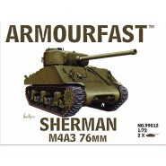 M4A3 Sherman 76mm: Pack includes 2 snap together tank kits