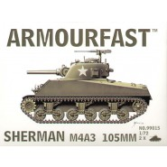 M4A3 Sherman 105mm gun: Pack includes 2 snap together tank kits