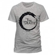 The Hobbit: I am fire I am death T-Shirt Grey (SIZE:S)