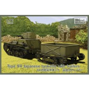 Type-94 Japanese tankette with trailers (2 trailers in the box!)