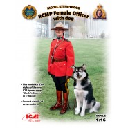 RCMP Female Officer with dog (100% new molds)