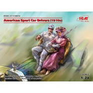 American Sport Car Drivers (1910s) (1 male, 1 female figures) (100% new molds)