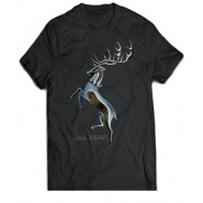 Game Of Thrones Chrome Baratheon T-Shirt Black (Size: S)