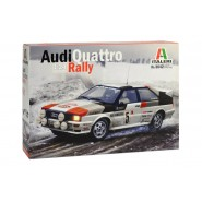 Audi Quattro Rally SUPER DECALS SHEET - COLOR INSTRUCTION SHEET