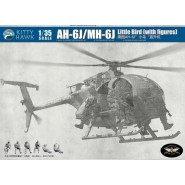 Hughes AH-6J/MH-6J Little Bird Nightstalker (with 6 resin figures)