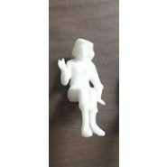 Sitted White Figure x 1 pc.