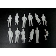 White Figures x 10 pcs.