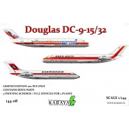 Douglas DC-9-15/32 limited plastic kit for DC-9 in German service