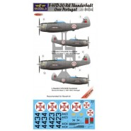 Republic F-47D-30-RE Thunderbolt over Portugal (2 decal options) (designed to be used with Revell kits) [P-47D]