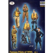 Famous Pilots of WWII - 6 Standing figures
