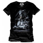 Batman v Superman Dawn of Justice T-Shirt Batman Face (Size: XL)